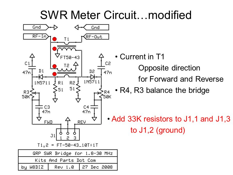 SWR Meter Circuit…modified