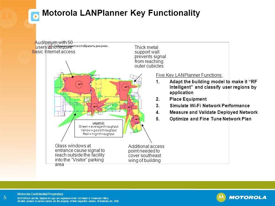Motorola LANPlanner Key Functionality