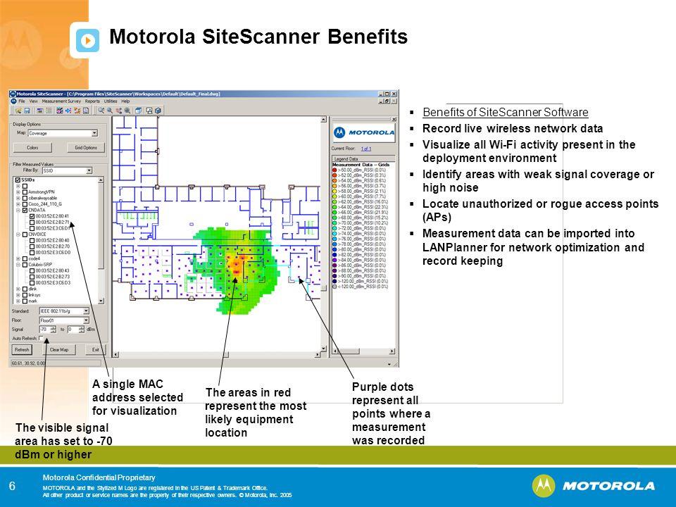 Motorola SiteScanner Benefits