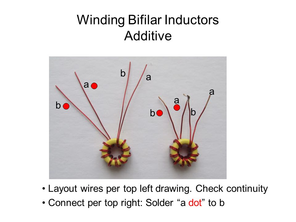 Winding Bifilar Inductors Additive