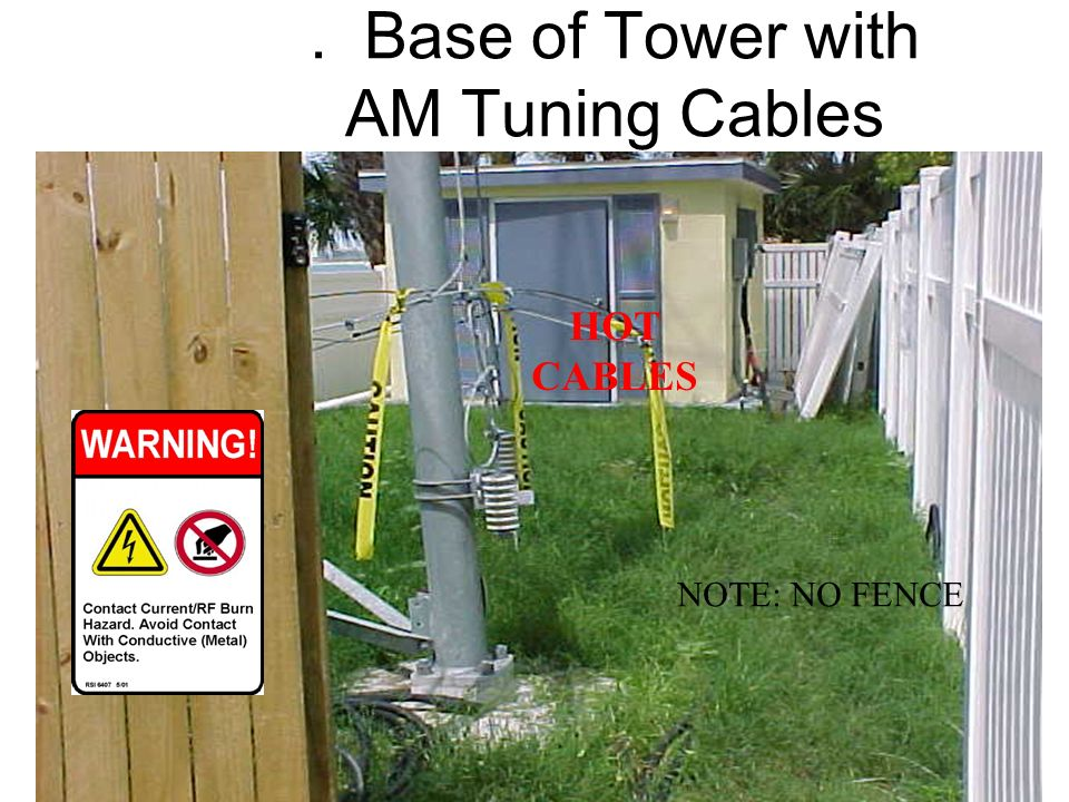 . Base of Tower with AM Tuning Cables
