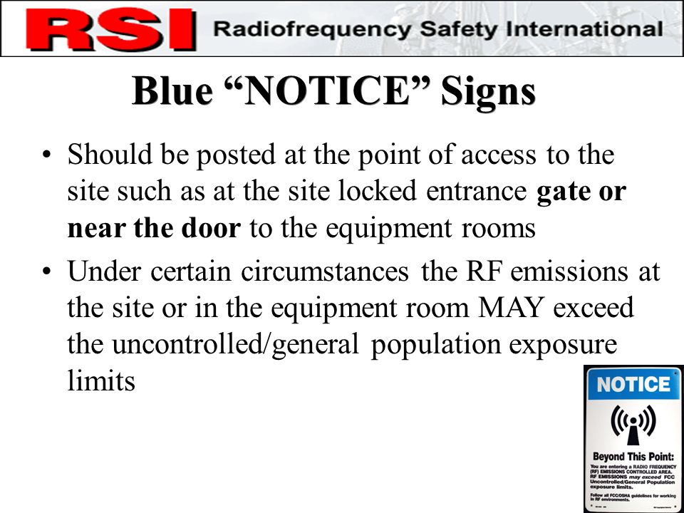 Blue NOTICE Signs