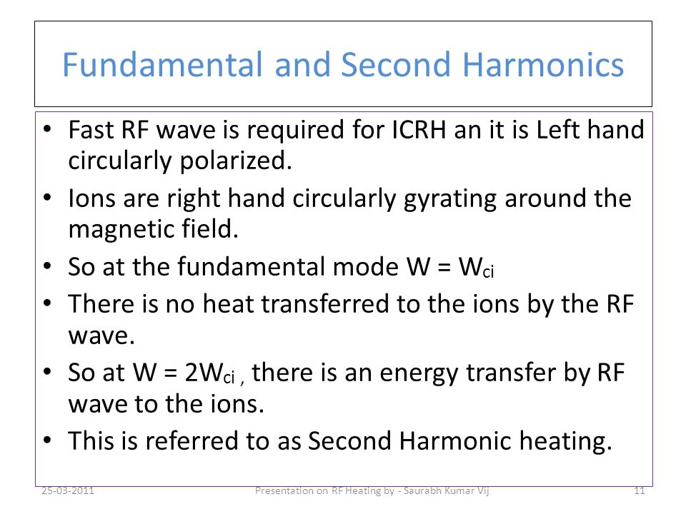 Fundamental and Second Harmonics
