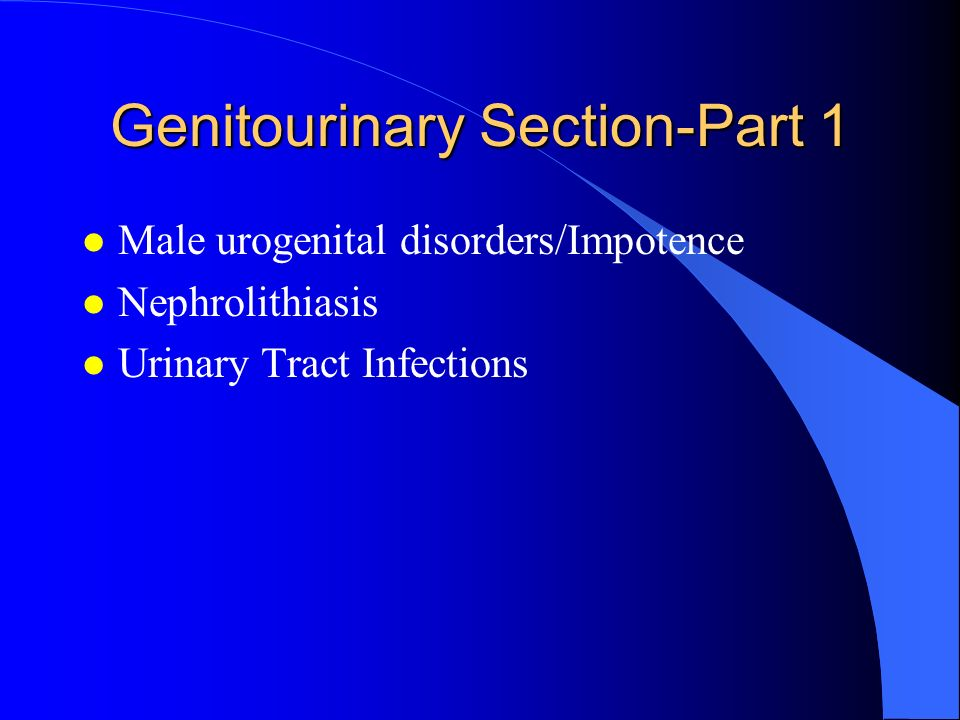 Genitourinary Section-Part 1