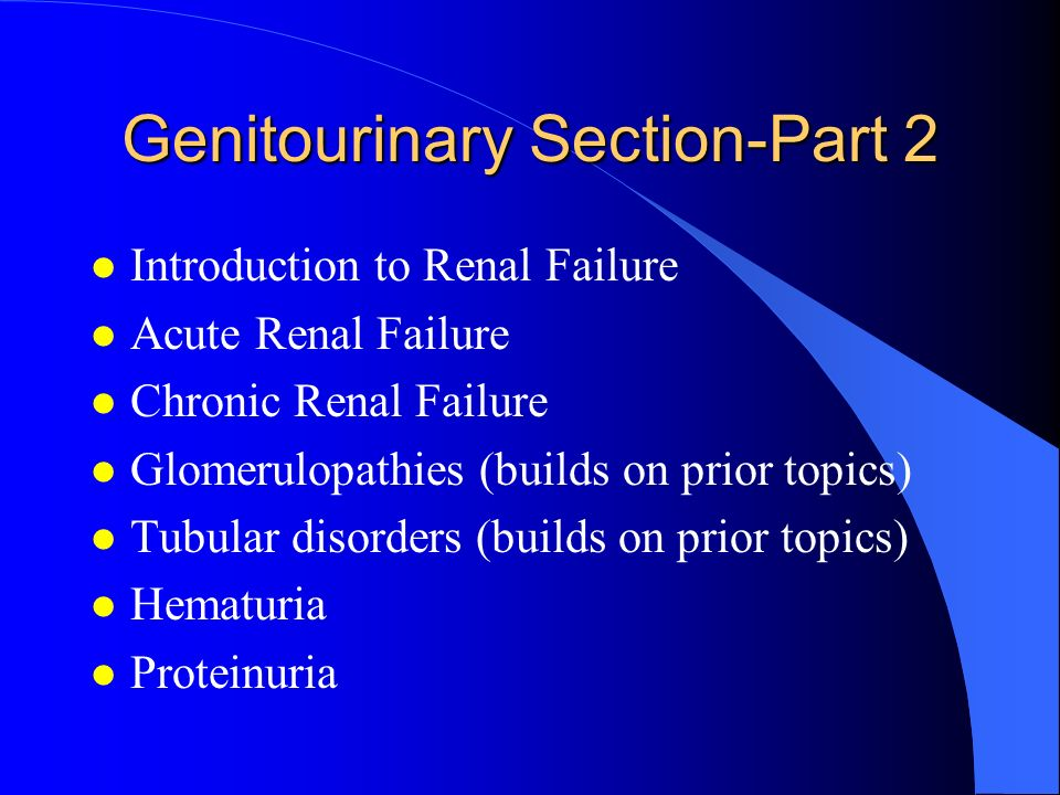 Genitourinary Section-Part 2
