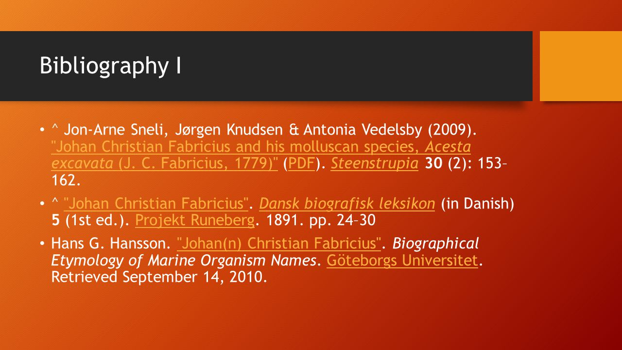 Bibliography I