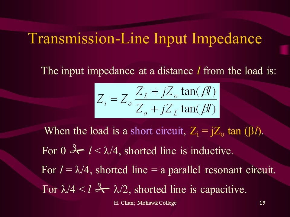 Transmission-Line Input Impedance