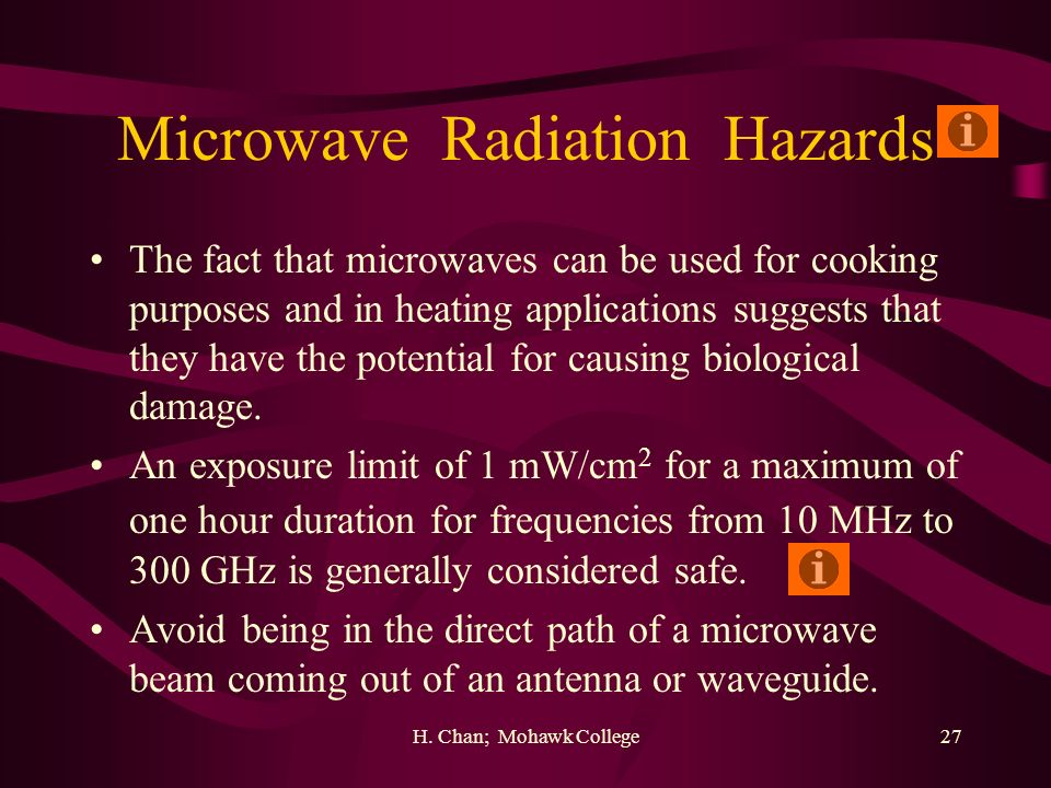 Microwave Radiation Hazards