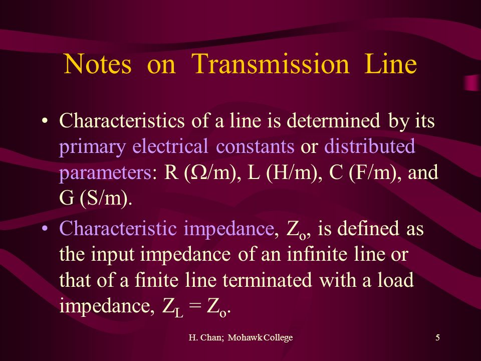 Notes on Transmission Line