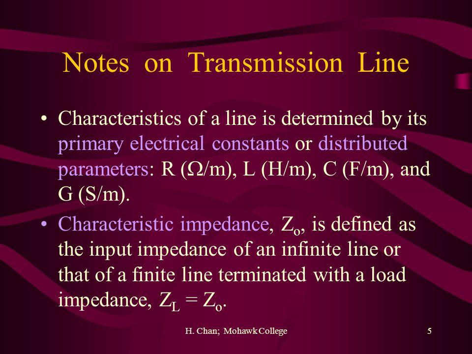 Notes on Transmission Line