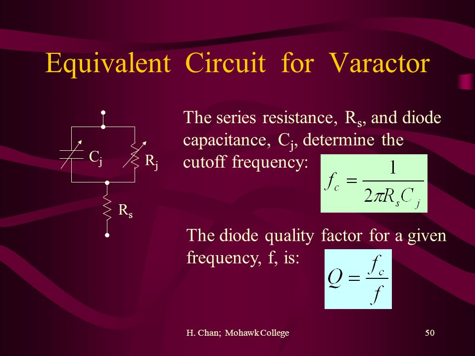 Equivalent Circuit for Varactor