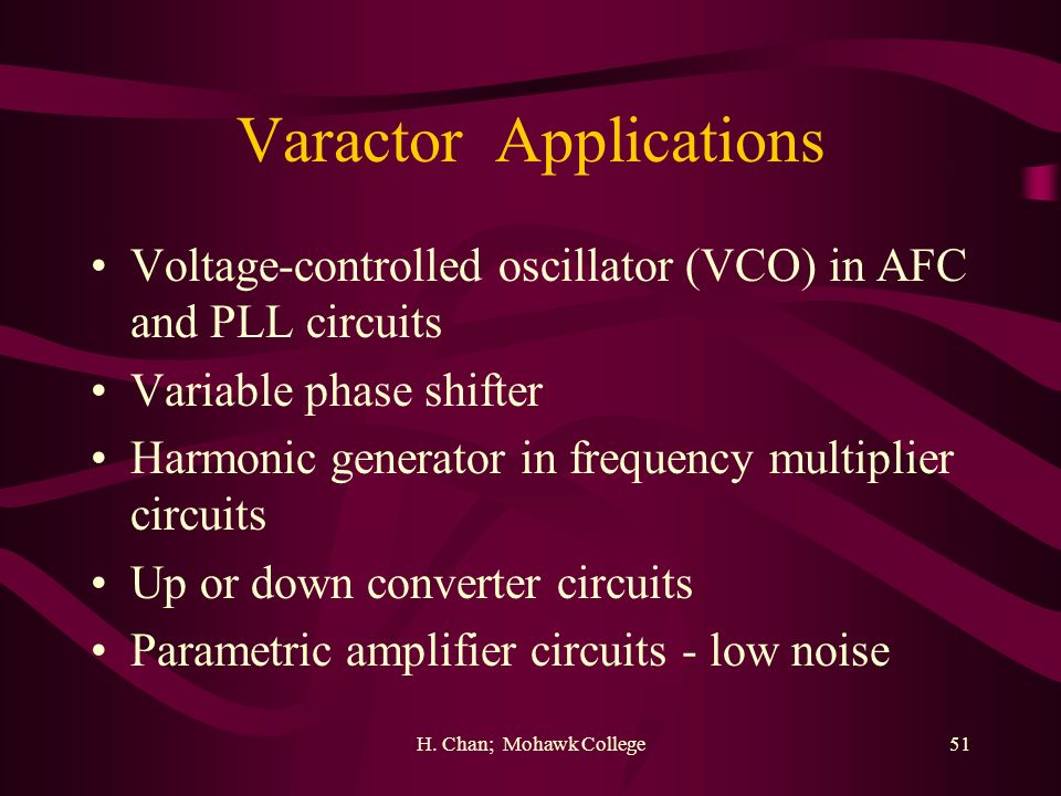 Varactor Applications