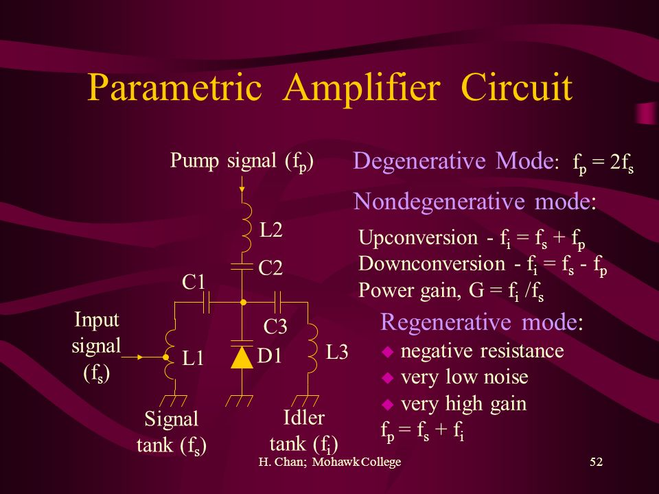 Parametric Amplifier Circuit