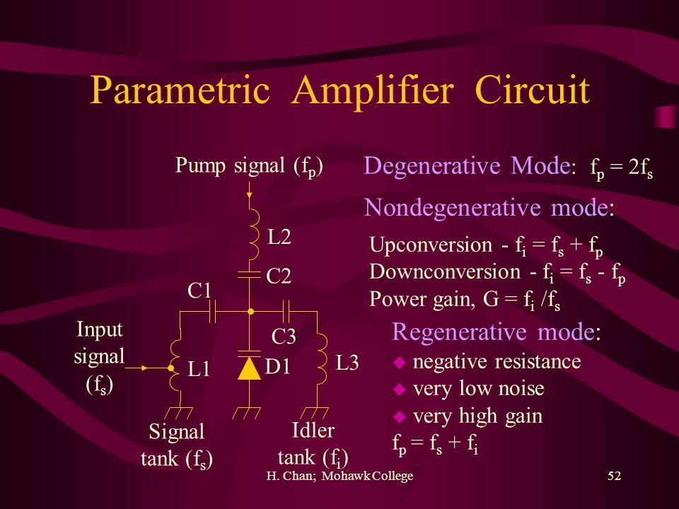 Parametric Amplifier Circuit