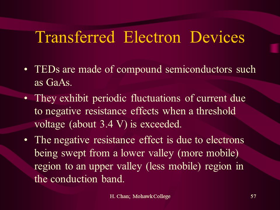 Transferred Electron Devices