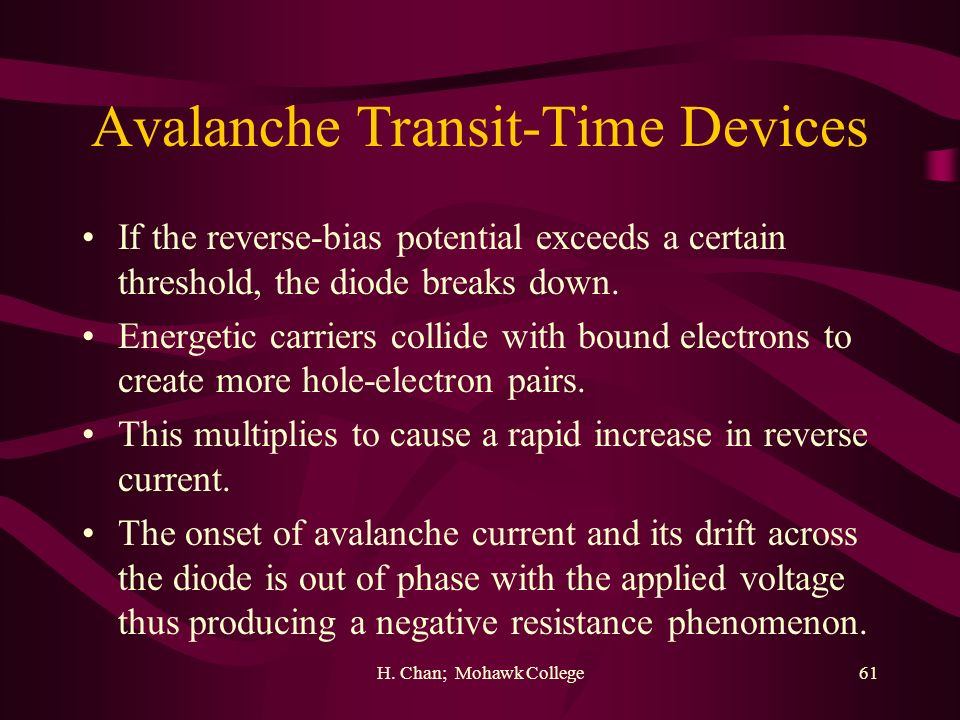 Avalanche Transit-Time Devices