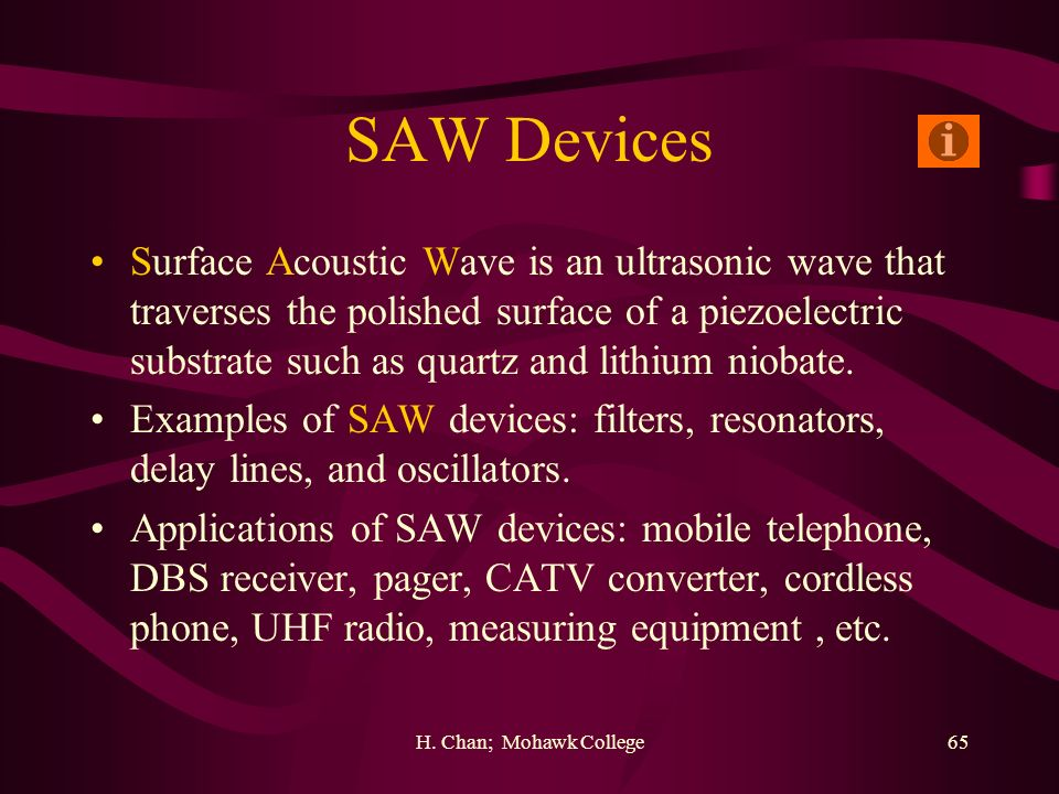SAW Devices