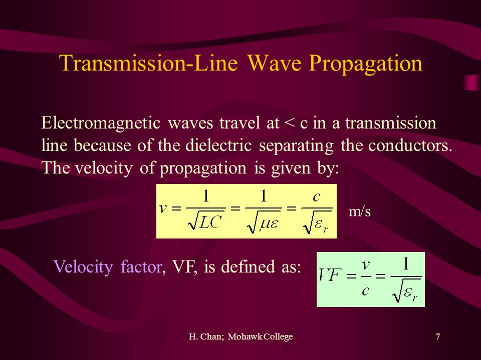 Transmission-Line Wave Propagation