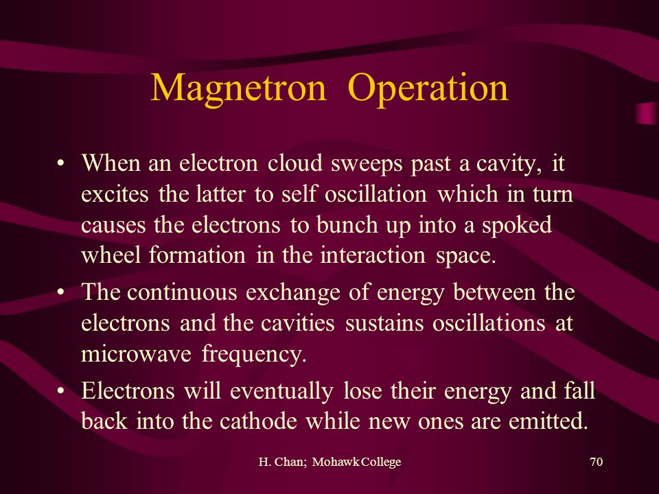 Magnetron Operation