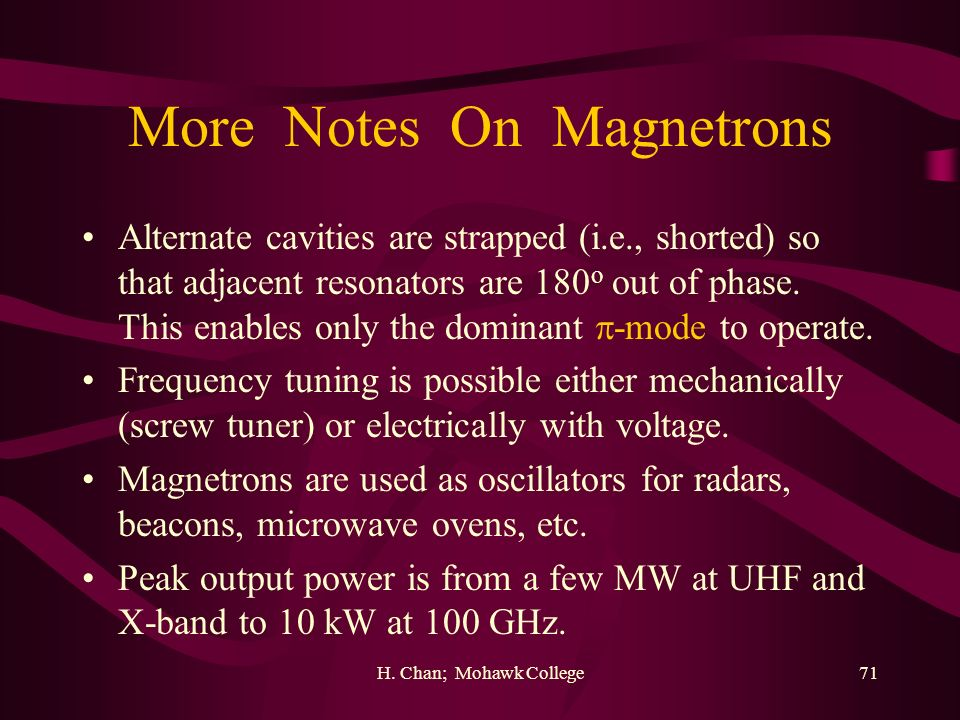 More Notes On Magnetrons