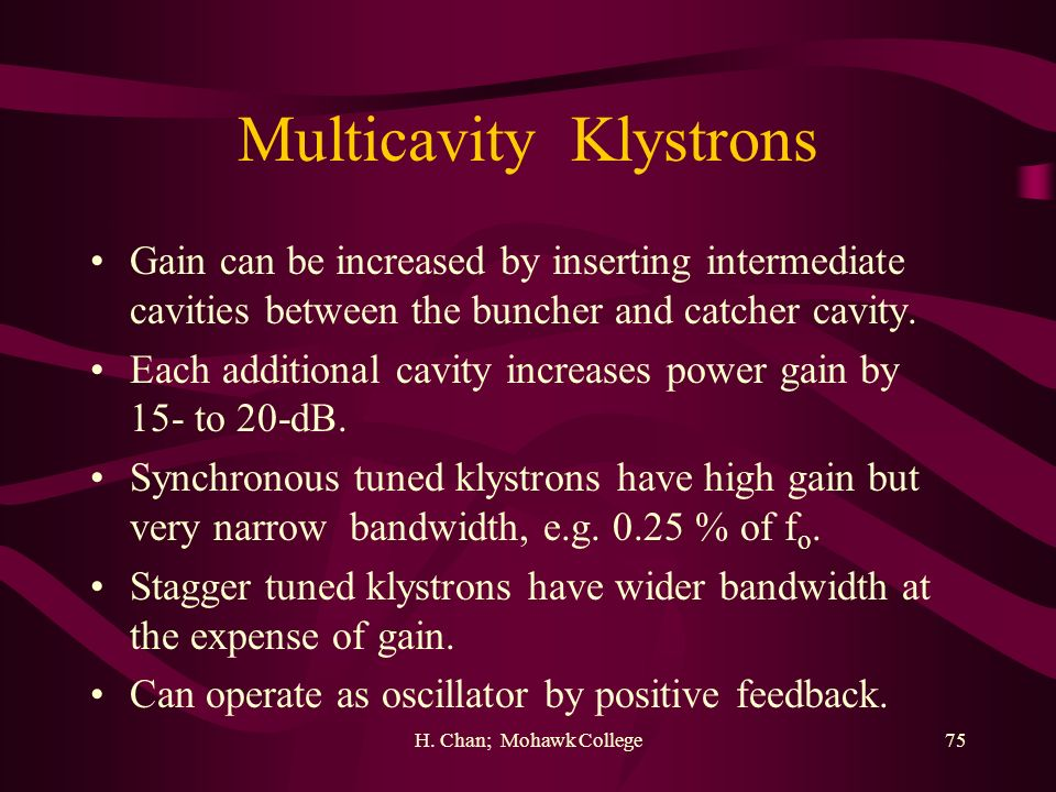 Multicavity Klystrons