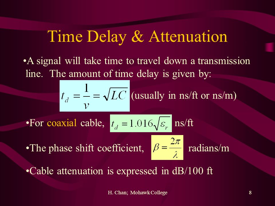 Time Delay & Attenuation