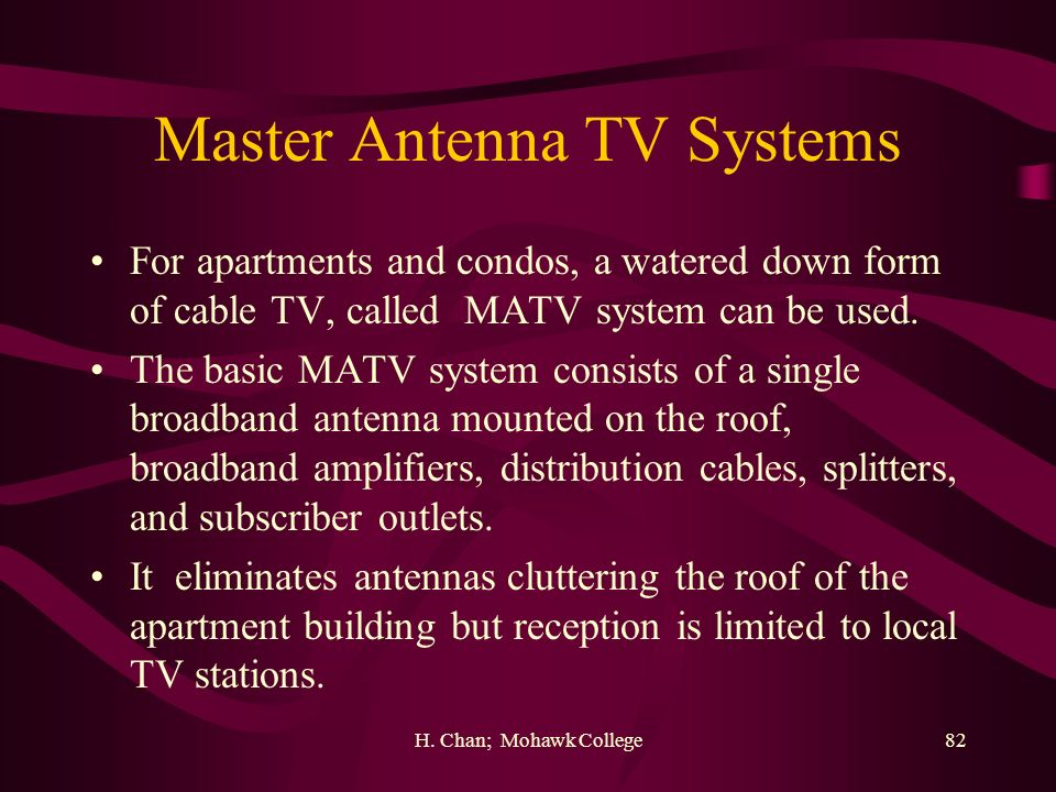 Master Antenna TV Systems