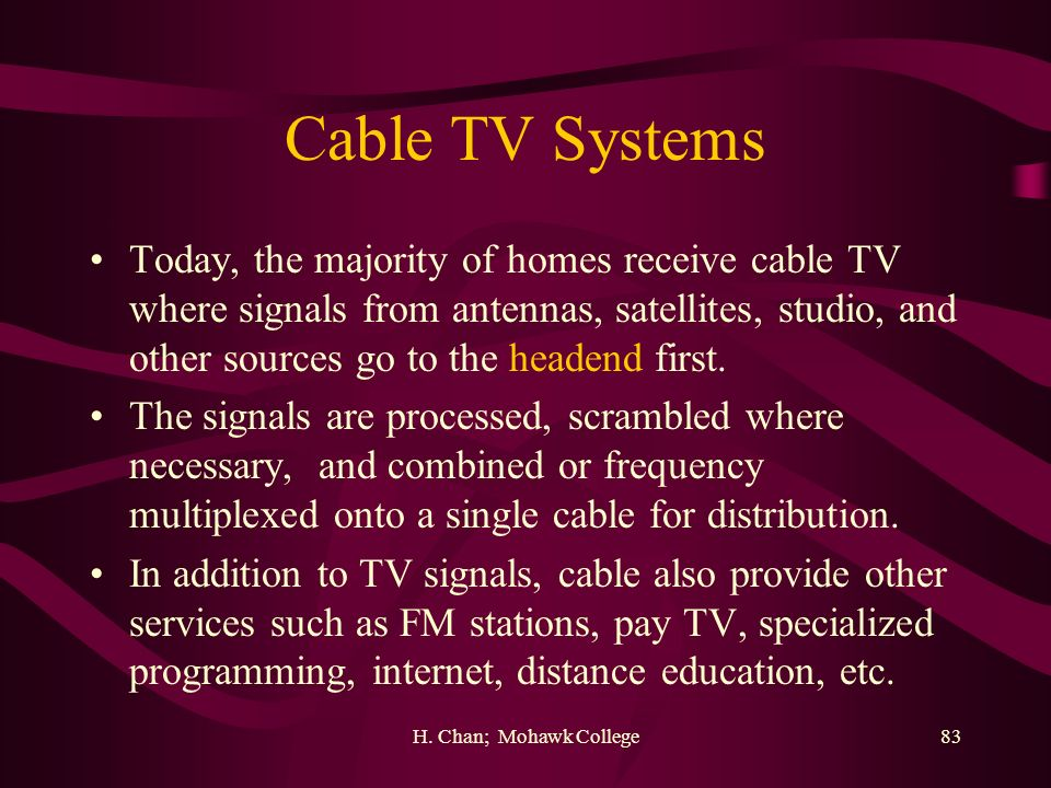 Cable TV Systems