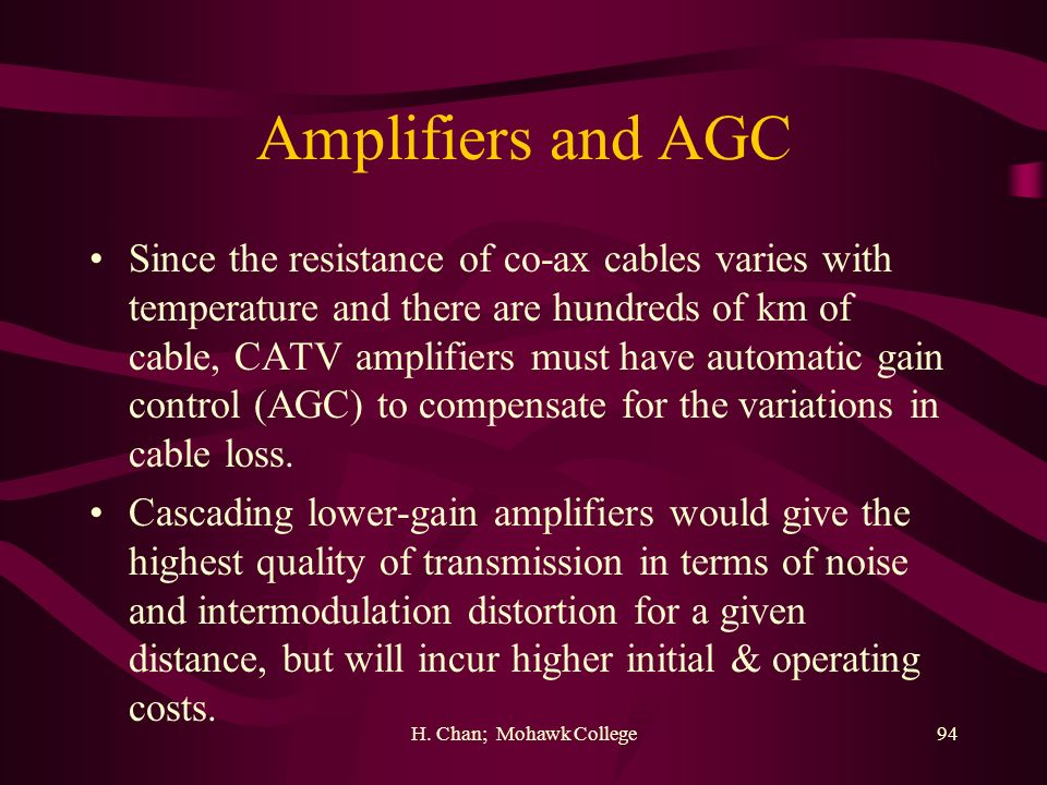Amplifiers and AGC