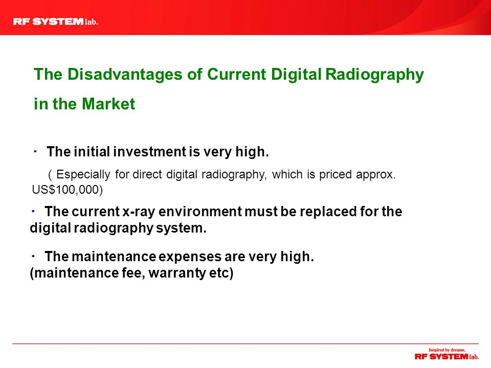 The Disadvantages of Current Digital Radiography in the Market