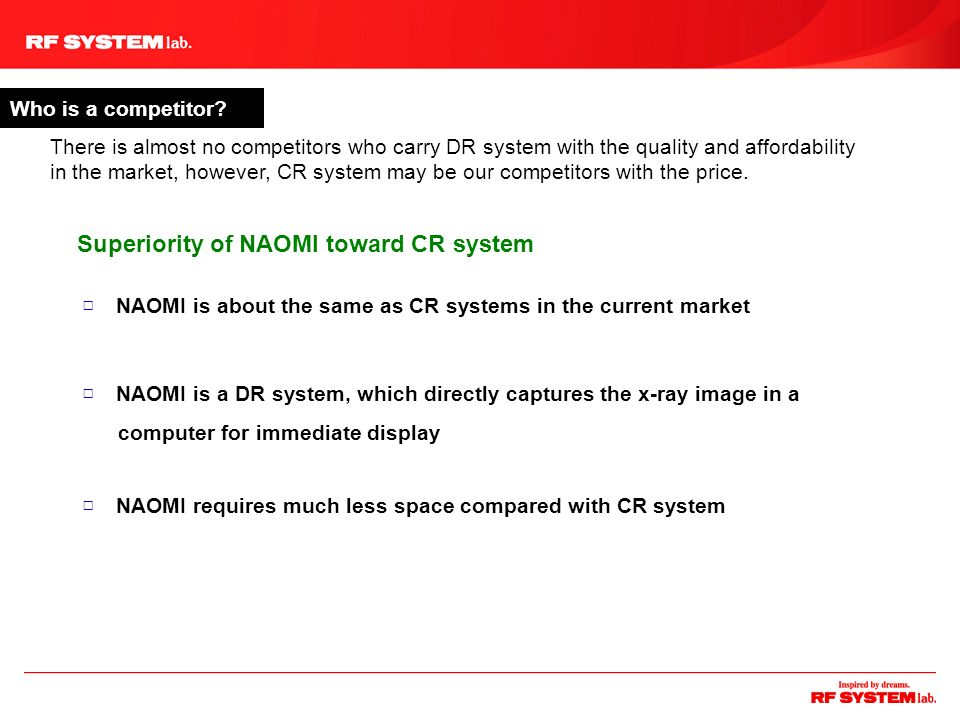 Superiority of NAOMI toward CR system
