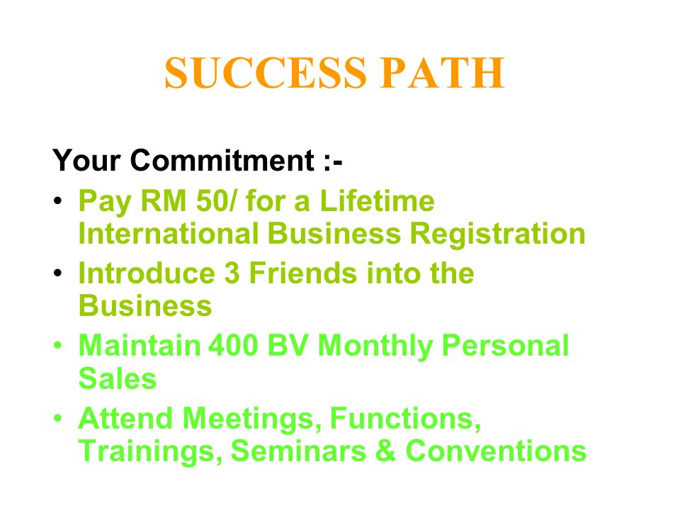 SUCCESS PATH Your Commitment :-