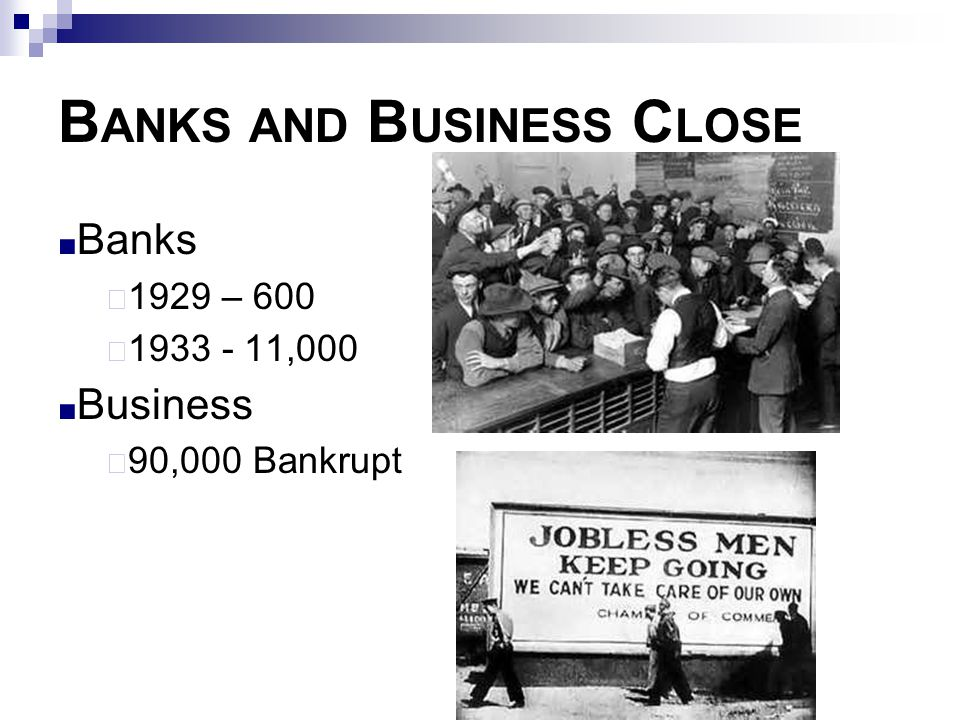 Banks and Business Close