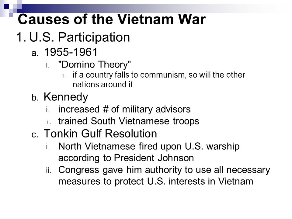 Causes of the Vietnam War