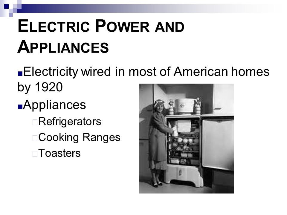 Electric Power and Appliances