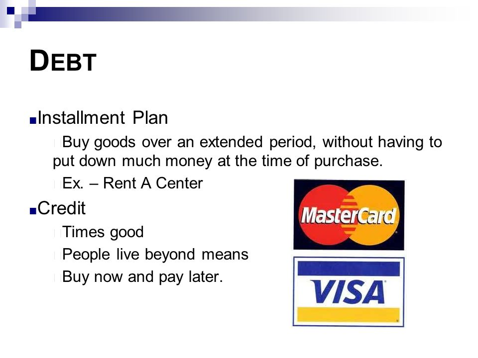 Debt Installment Plan Credit