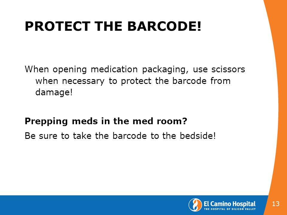 PROTECT THE BARCODE!