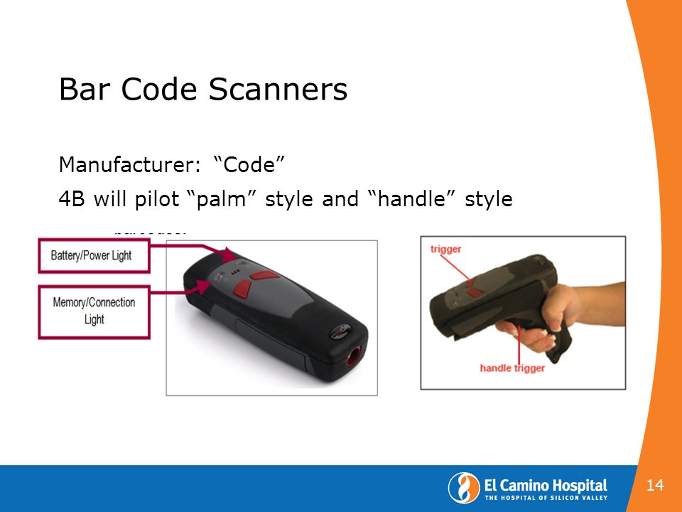 Bar Code Scanners Manufacturer: Code 4B will pilot palm style and handle style