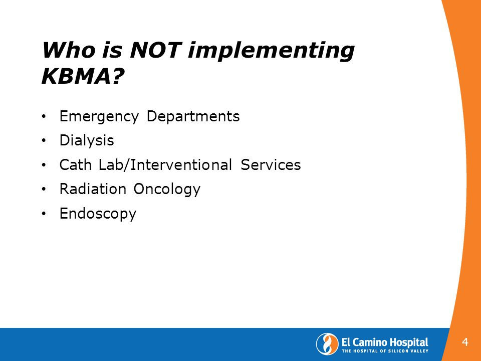 Who is NOT implementing KBMA