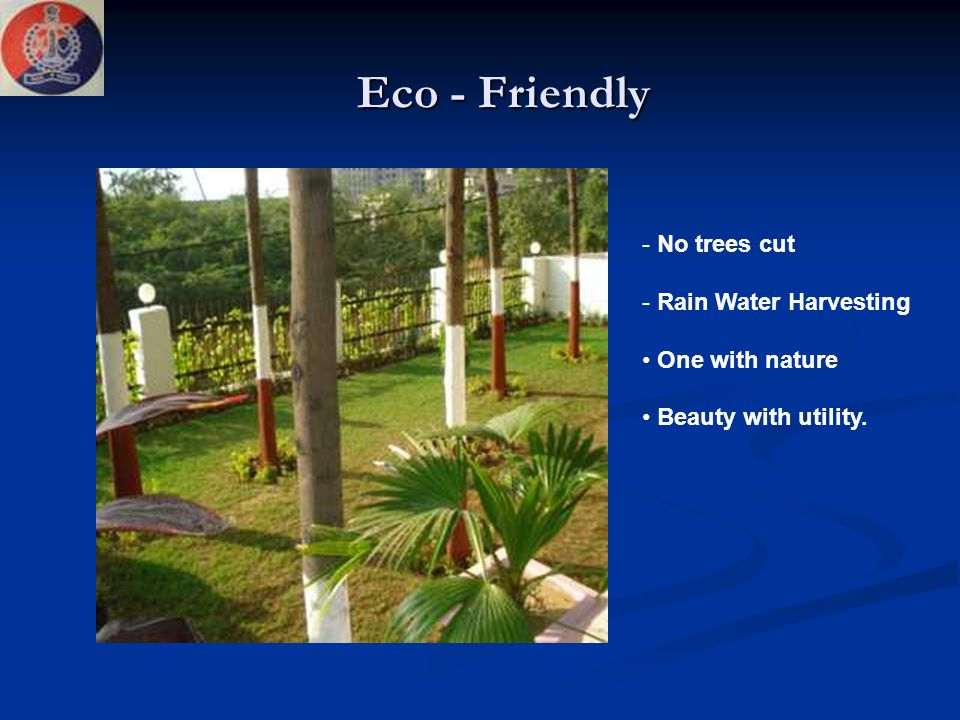 Eco - Friendly No trees cut Rain Water Harvesting One with nature