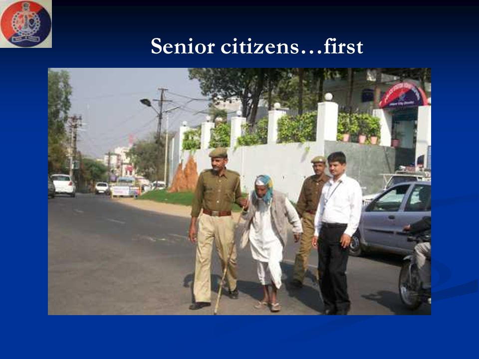 Senior citizens…first