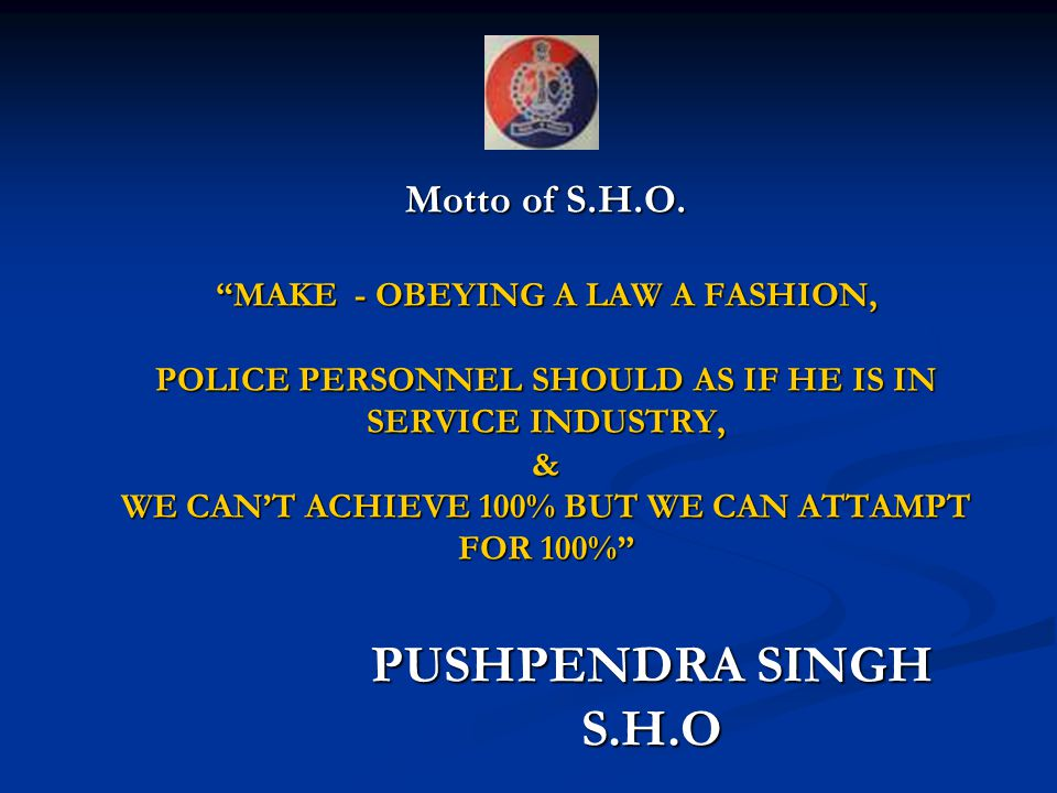 Motto of S.H.O.