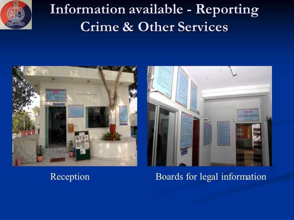 Information available - Reporting Crime & Other Services