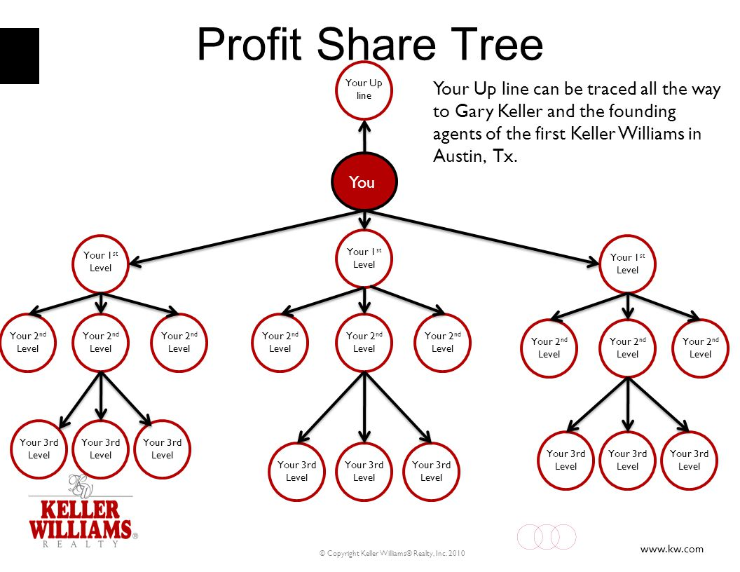 Profit Share Tree Your Up line can be traced all the way