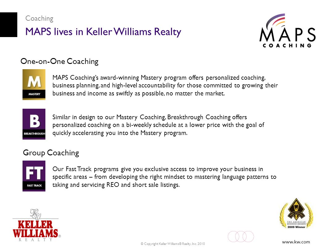 MAPS lives in Keller Williams Realty