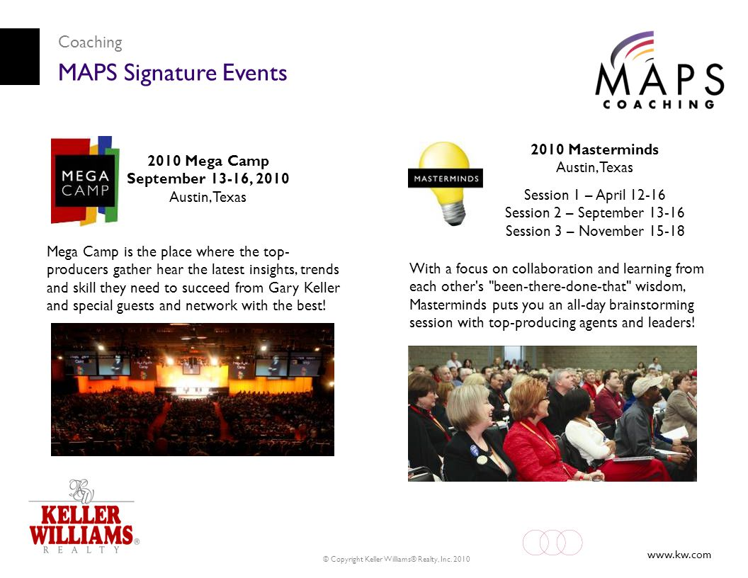 MAPS Signature Events Coaching 2010 Masterminds Austin, Texas