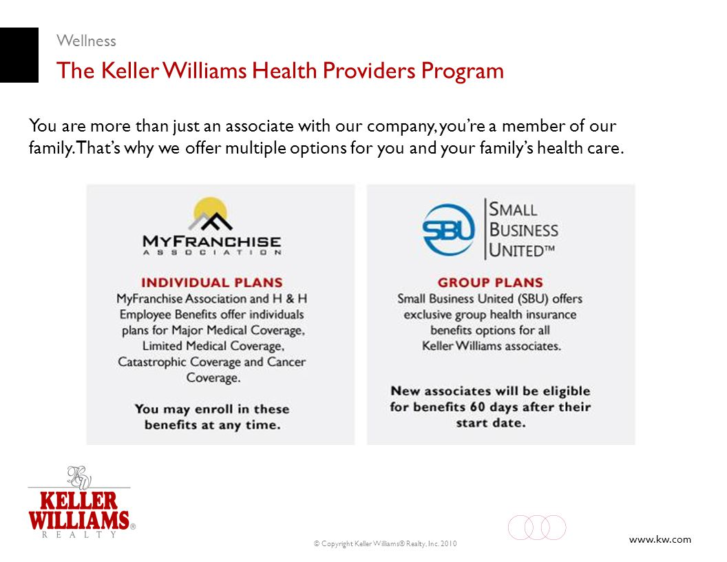 The Keller Williams Health Providers Program