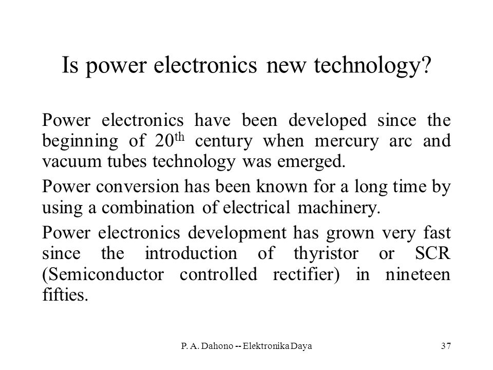 Is power electronics new technology