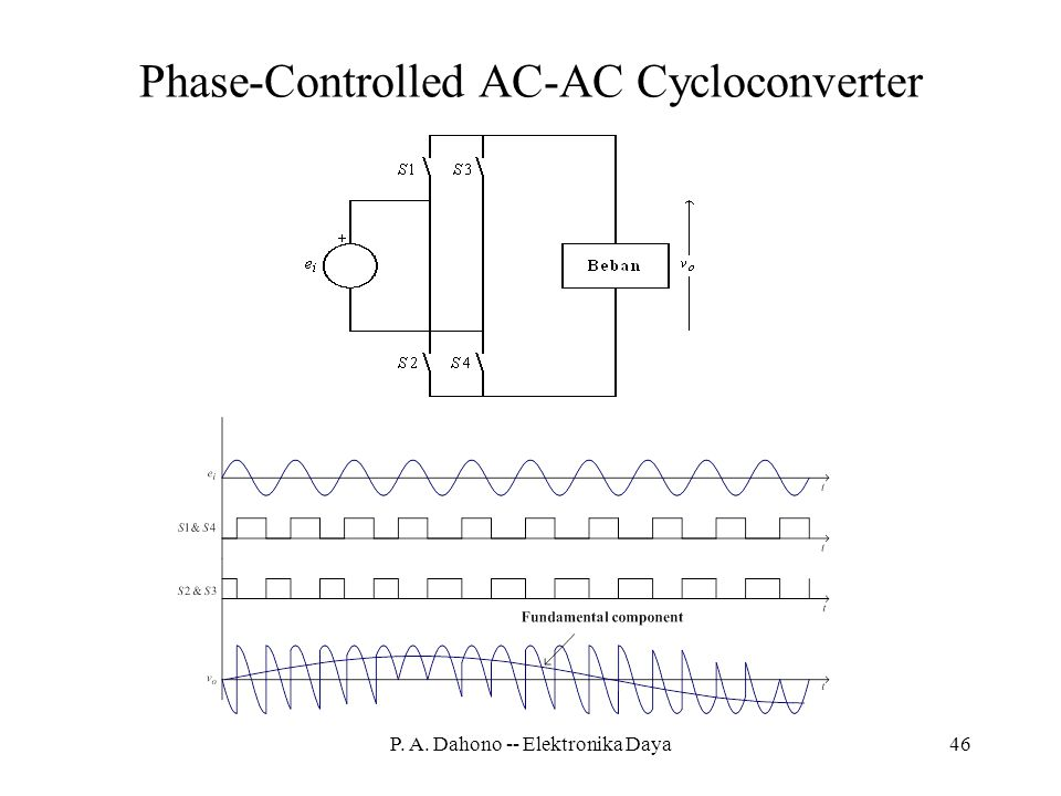 Phase-Controlled AC-AC Cycloconverter
