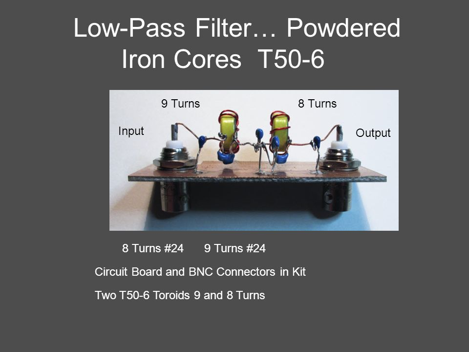 Low-Pass Filter… Powdered Iron Cores T50-6